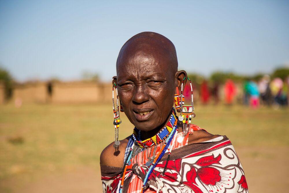 Dziewczyna z plemenia Masajów