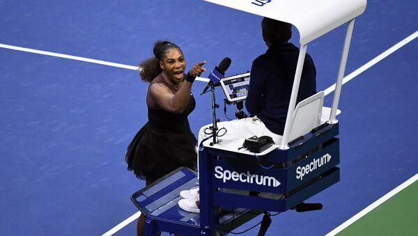 Serena Williams podczas finału US Open - Sputnik Polska