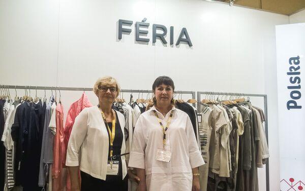 Renata Zdunowska, specjalista ds. Exportu firmy Sunwear (po lewej stronie) i jej partnerka biznesowa z Rosji - Sputnik Polska
