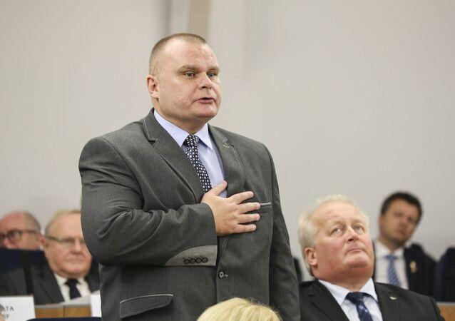 Polski senator Maciej Grubski. Zdjęcie archiwalne