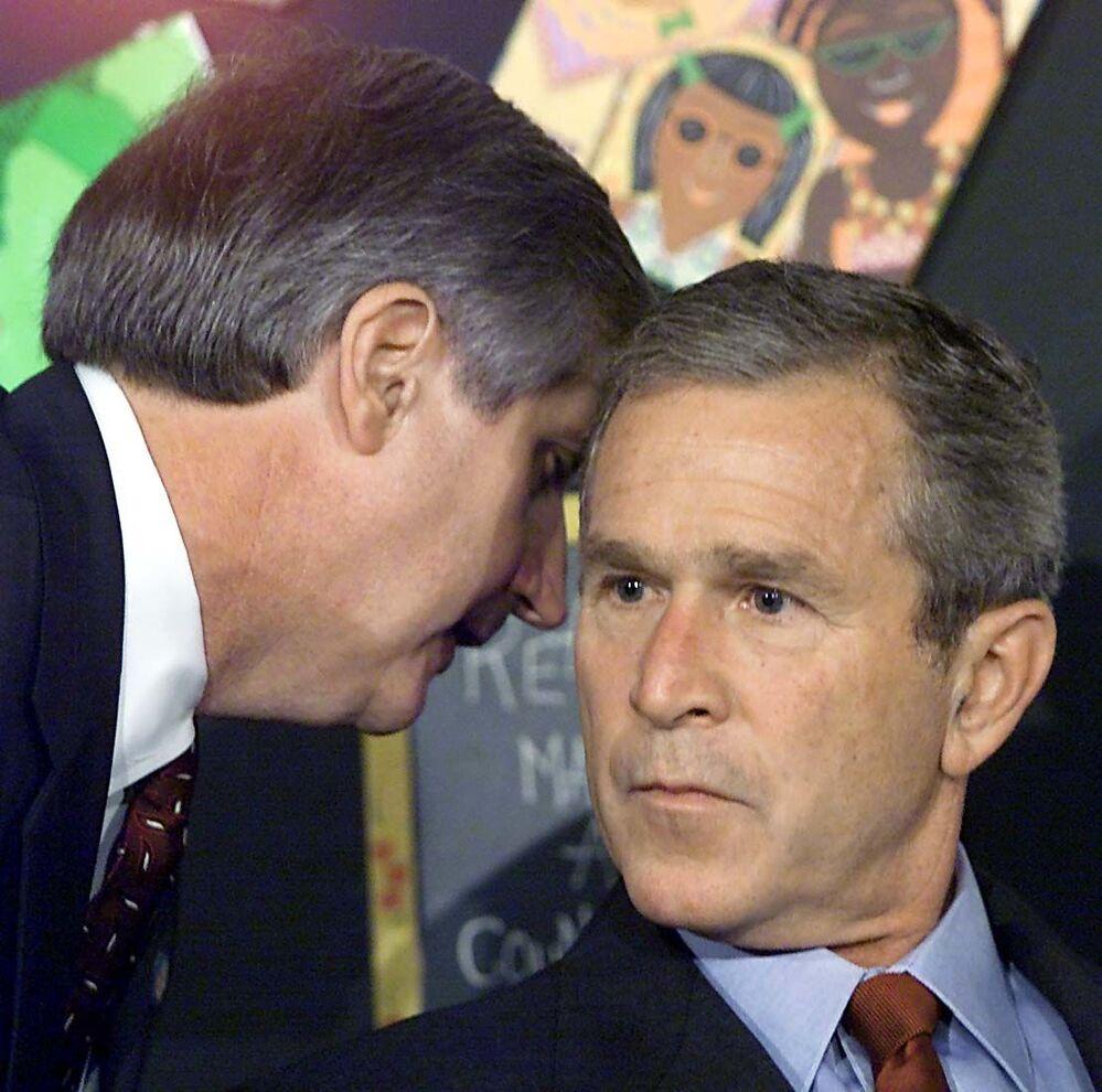 George Bush dowiaduje się o ataku na World Trade Center