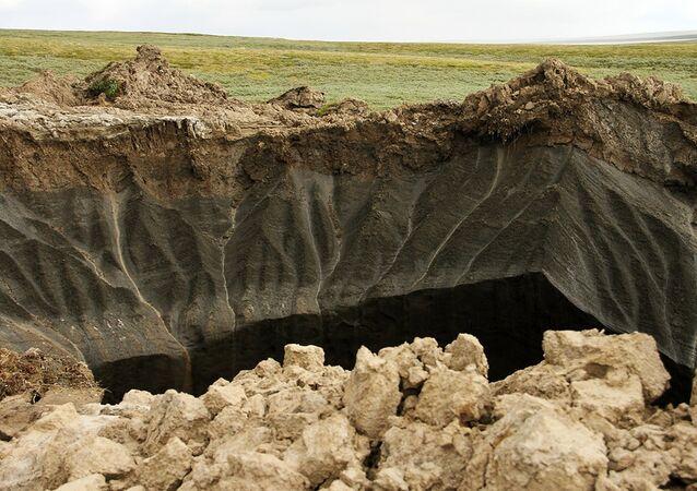 Krater na Półwyspie Jamalskim