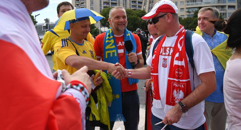 Polacy i Ukraińcy podczas Euro 2016