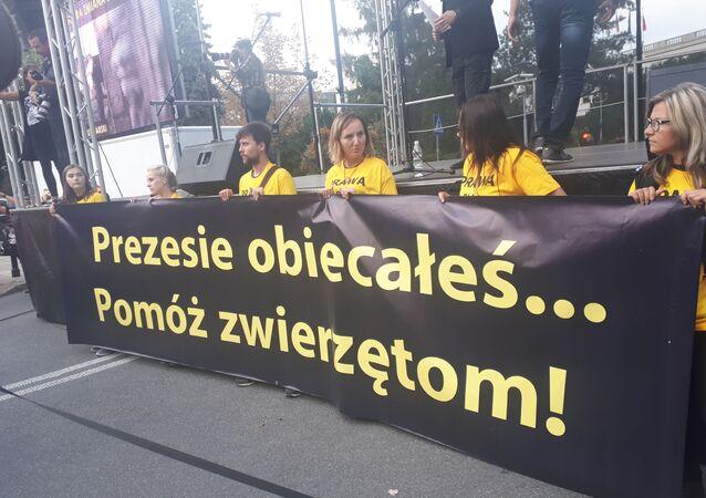 Demonstracja w obronie praw zwierząt, Warszawa, 13.09.2018