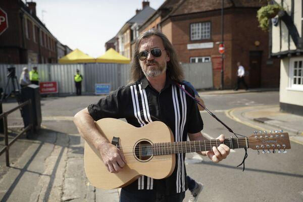 Muzyk Pete Aves w Salisbury - Sputnik Polska