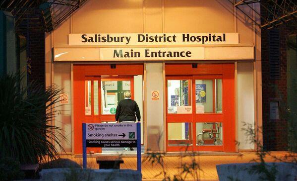 Szpital w Salisbury, do którego zostali przewiezieni Siergiej i Julia Skripal - Sputnik Polska