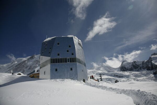 Dom dla alpinistów Monte Rosa w Szwajcarii - Sputnik Polska