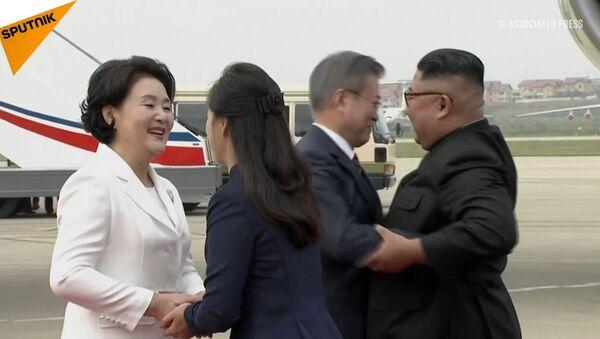 Przywódca Korei Południowej w KRLD - Sputnik Polska