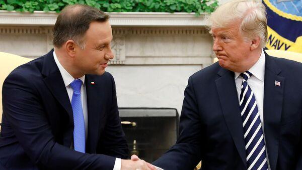 Prezydent Andrzej Duda w Białym Domu - Sputnik Polska