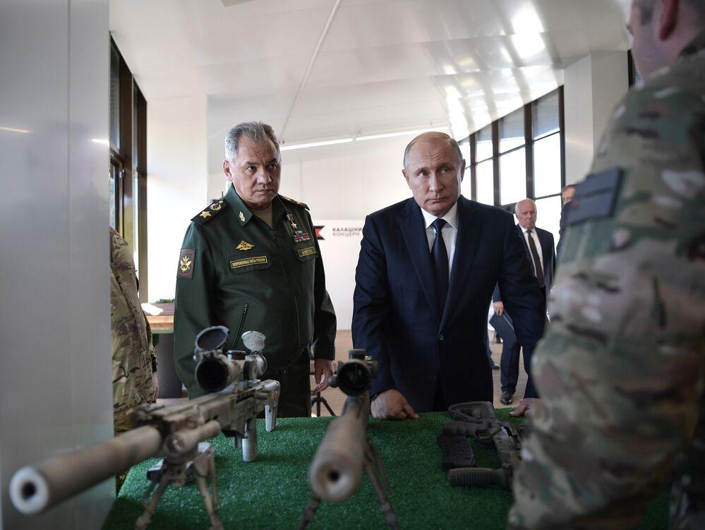 Władimir Putin w parku Sił Zbrojnych Federacji Rosyjskiej Patriot
