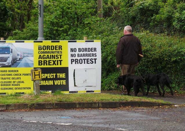 Przeciwnicy Brexitu, granica z Irlandią Północną