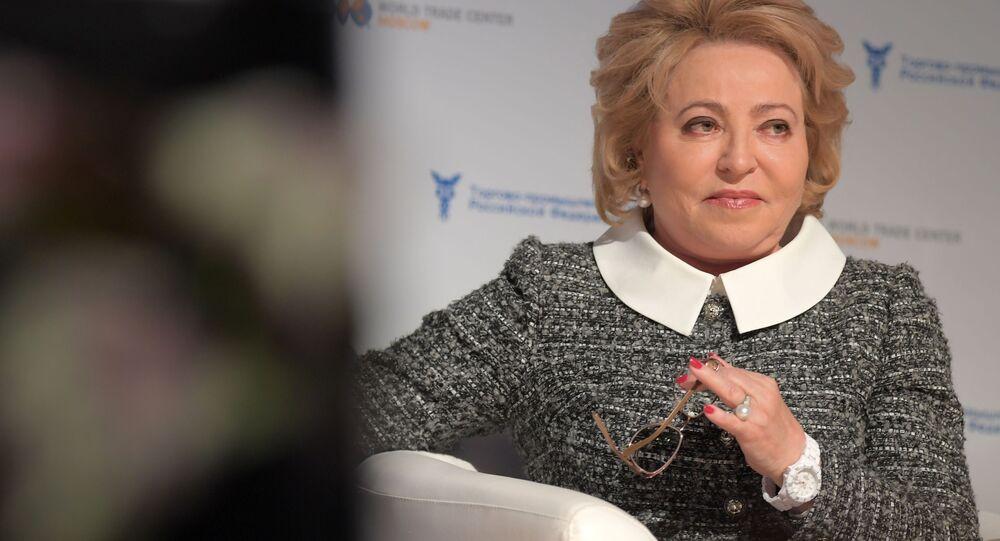 Przewodnicząca rosyjskiej Rady Federacji Walentina Matwijenko na IV Międzynarodowym Forum Cykl wykładów o Primakowie