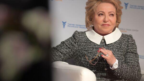Przewodnicząca rosyjskiej Rady Federacji Walentina Matwijenko na IV Międzynarodowym Forum Cykl wykładów o Primakowie - Sputnik Polska