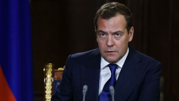 Przewodniczący rządu Rosji Dmitrij Miedwiediew - Sputnik Polska