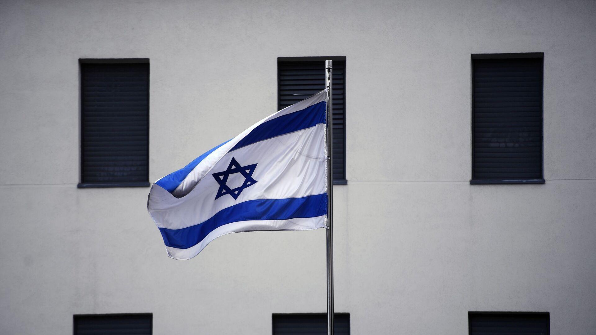 Flaga na budynku ambasady Izraela w Moskwie  - Sputnik Polska, 1920, 15.08.2021