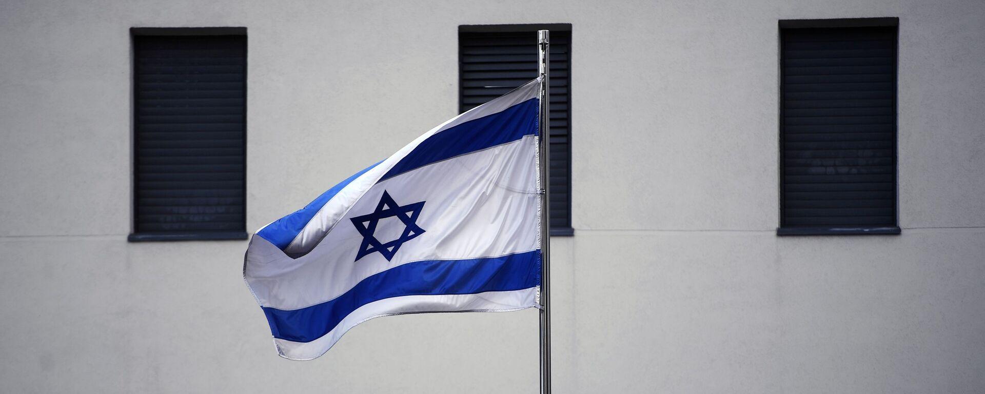 Flaga na budynku ambasady Izraela w Moskwie  - Sputnik Polska, 1920, 14.08.2021