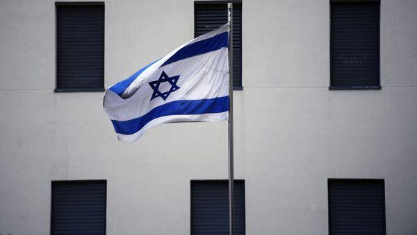 Flaga na budynku ambasady Izraela w Moskwie  - Sputnik Polska