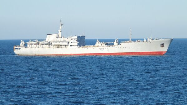 Okręt Rosji u brzegów Krymu - Sputnik Polska