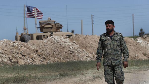 Żołnierz USA w Syrii - Sputnik Polska