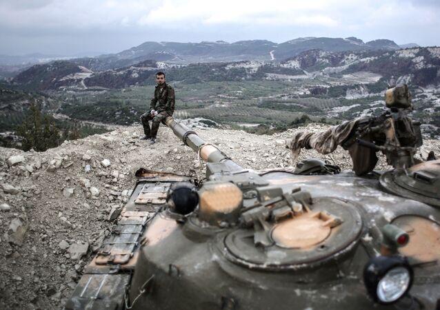 Syryjskie wojska w prowincji Latakia