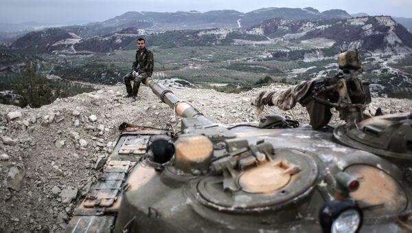 Syryjskie wojska w prowincji Latakia - Sputnik Polska