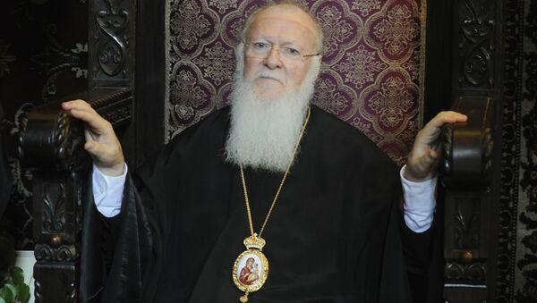 Patriarcha Konstantynopola Bartłomiej podczas Liturgii Boskiej - Sputnik Polska