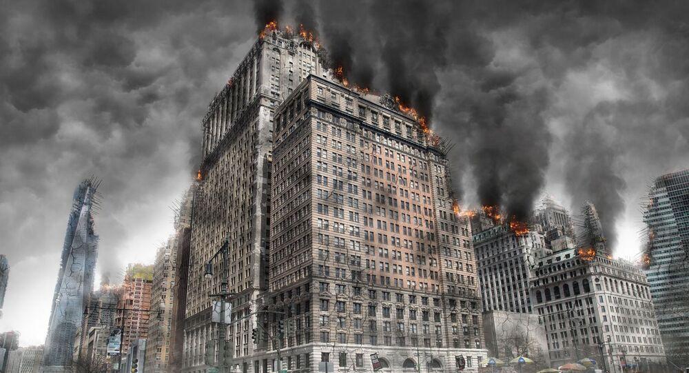 Artystyczne wyobrażenie metropolii po ostrzale
