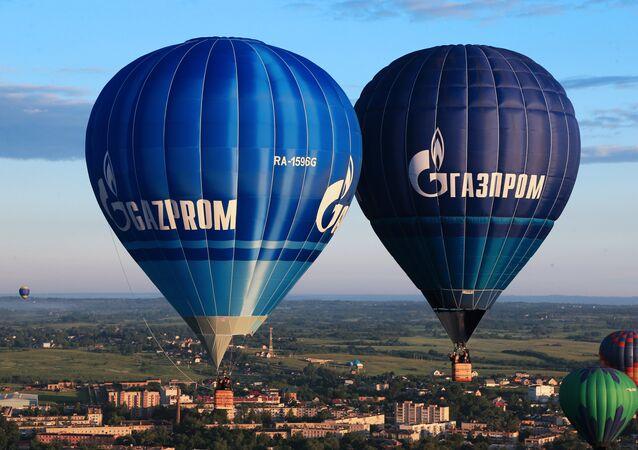 Balony z logo Gazpromu