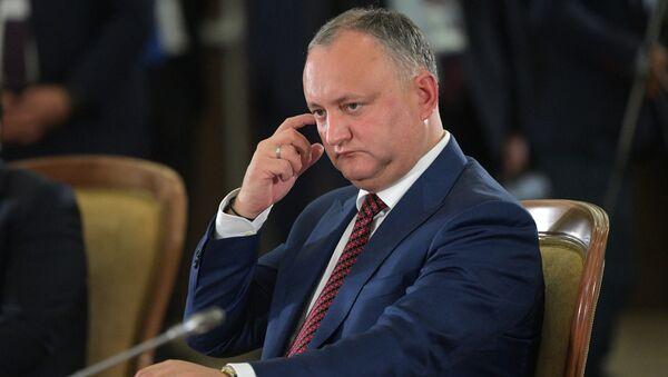 Prezydent Mołdawii Igor Dodon - Sputnik Polska