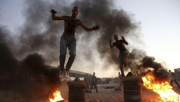 Szkolenie wojskowe młodych policjantów w Strefie Gazy - Sputnik Polska