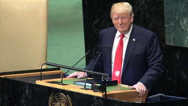 Prezydent USA Donald Trump przemawia na 73. sesji Zgromadzenia Ogólnego ONZ - Sputnik Polska