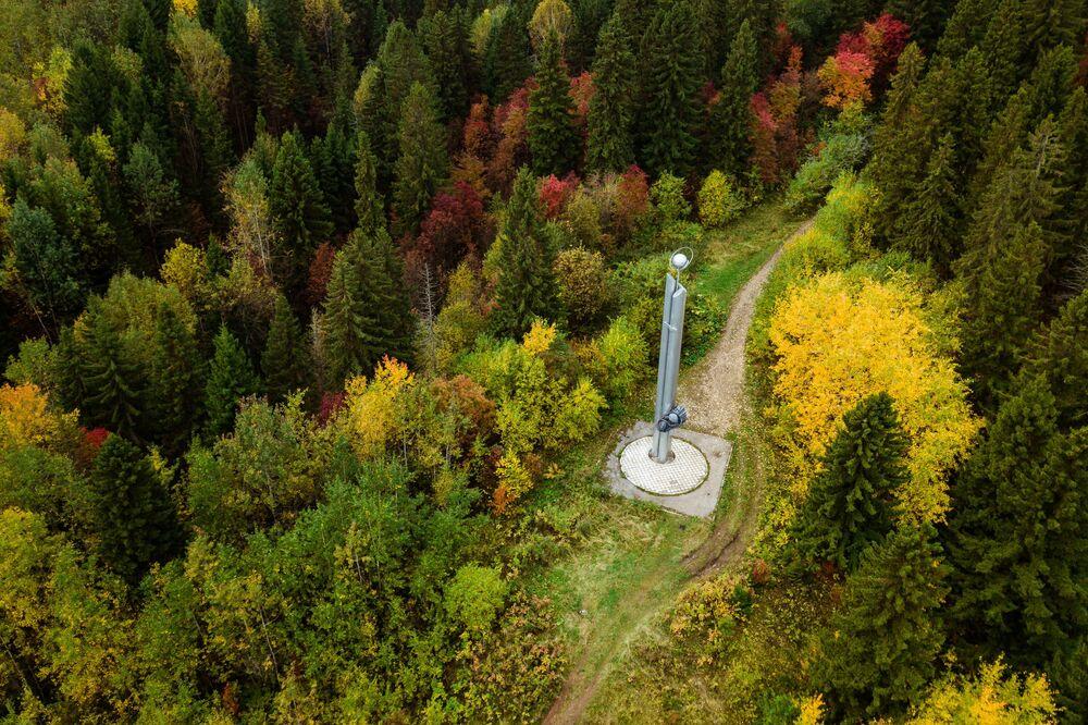 Pomnik poświęcony radzieckim kosmonautom w Kraju Permskim