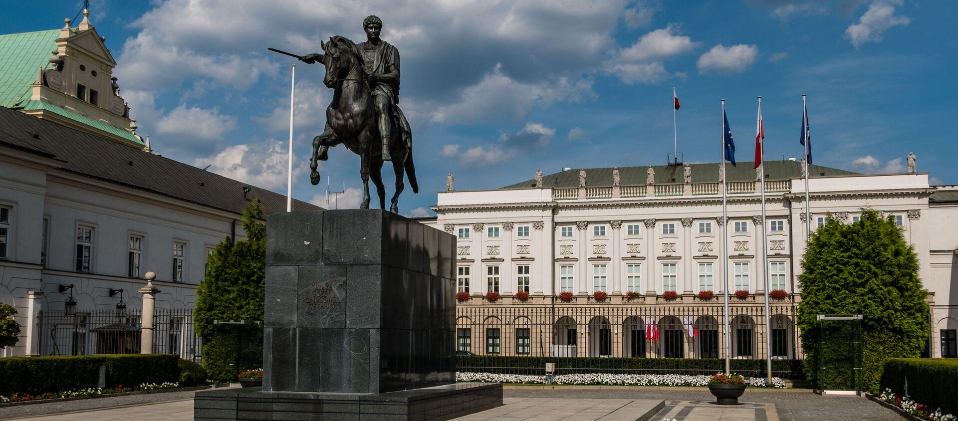 Pomnik księcia Józefa Poniatowskiego w Warszawie - Sputnik Polska, 1920, 04.01.2021