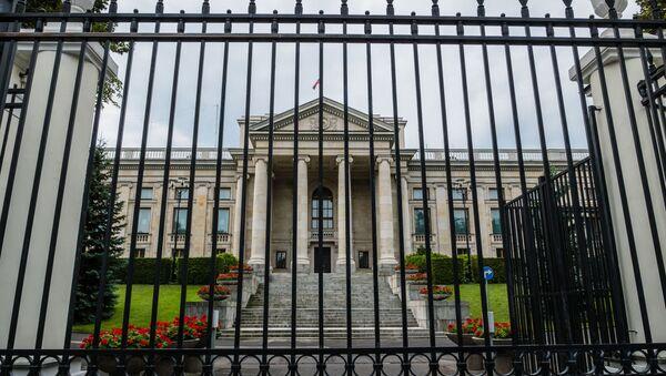 Ambasada Federacji Rosyjskiej w Warszawie. - Sputnik Polska