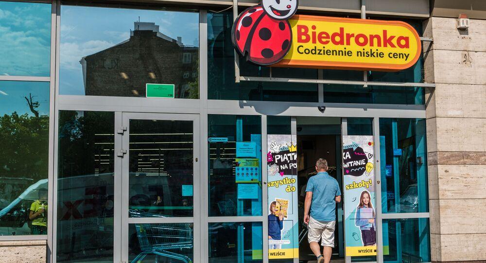 Sklep Biedronka w Warszawie.
