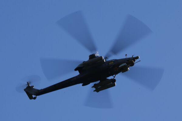Helikopter Ka-52 na manewrach wojskowych w obwodzie kostromskim - Sputnik Polska