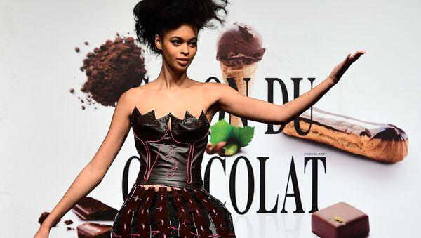 Kreacje z czekolady, pokaz mody w Brukseli - Sputnik Polska