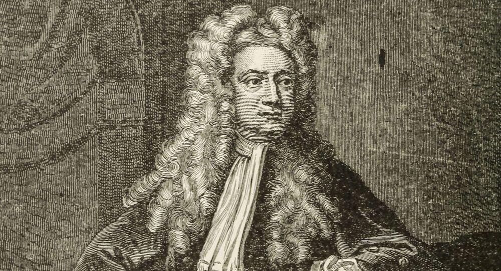 Angielski fizyk, matematyk, mechanik i astronom sir Isaak Newton