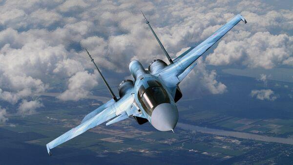 Myśliwiec bombardujący Su-34 - Sputnik Polska