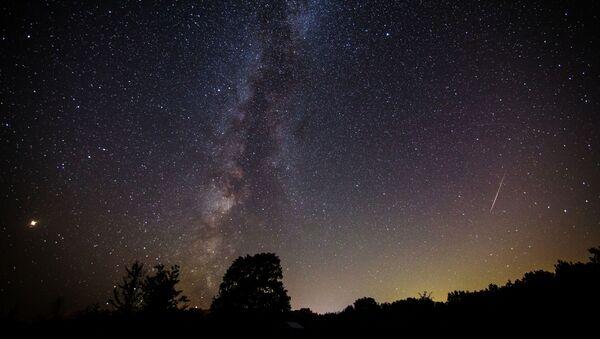 Rozgwieżdżone niebo w czasie deszczu meteorytów - Sputnik Polska