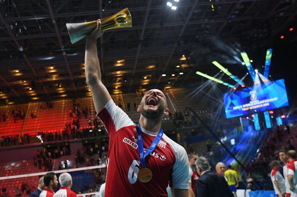 Bartosz Kurek po wygranym meczu MŚ w siatkówce 2018