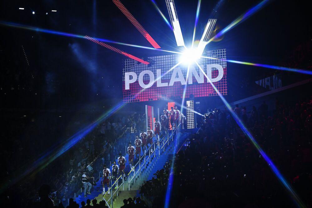 Wyjście reprezentacji Polski podczas MŚ w siatkówce 2018