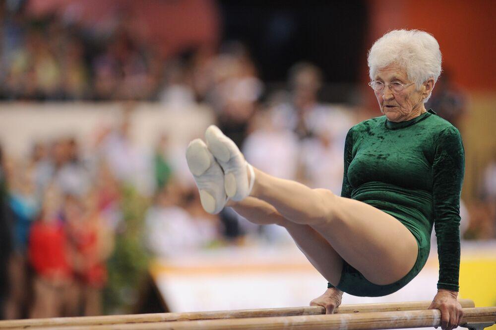 Najstarsza gimnastyczka na świecie Johanna Quaas