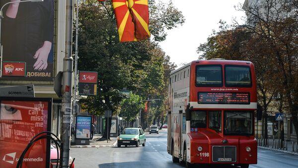 Ulica w Skopje w dzień referendum - Sputnik Polska