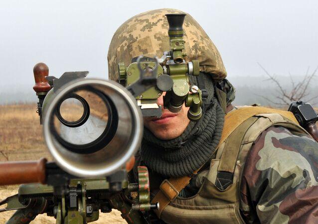 Ukraiński żołnierz. Zdjęcie archiwalne
