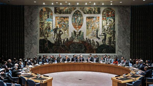 W czasie otwartych dyskusji na forum Rady Bezpieczeństwa ONZ w Nowym Jorku - Sputnik Polska