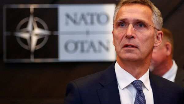 Sekretarz generalny NATO Jens Stoltenberg na spotkaniu ministrów obrony państw NATO w Brukseli. 4 października 2018 roku - Sputnik Polska