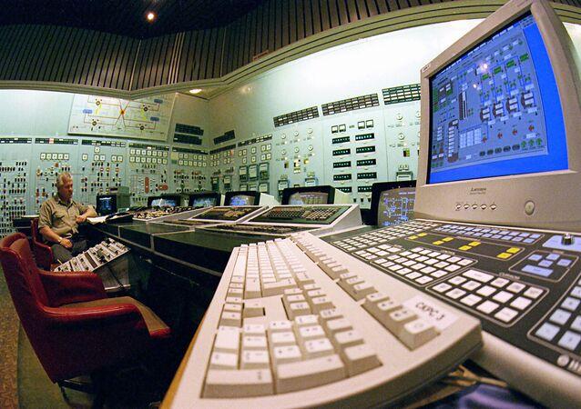 Centralny pulpit Zaporoskiej Elektrowni Atomowej
