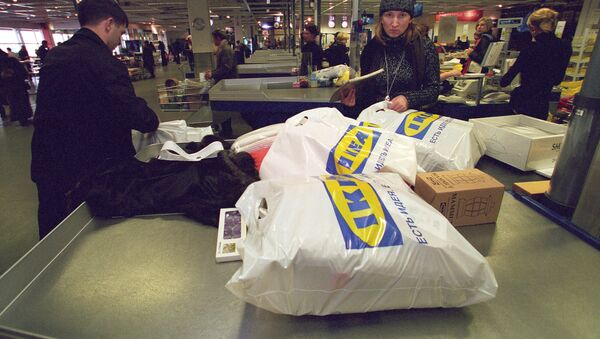 Towar w opakowaniach sklepu IKEA - Sputnik Polska