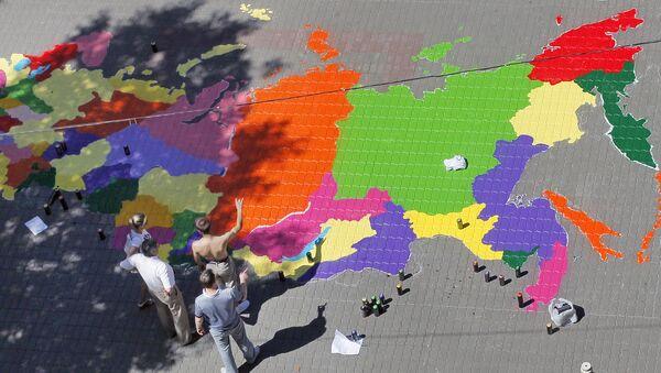 Mapa Rosji - Sputnik Polska